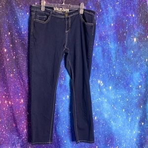 Wallflower- Dark Wash Straight Leg Jeans size 16